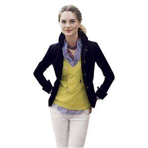 J.CREW Welsh Purple Velvet Bella Jacket Blazer 0